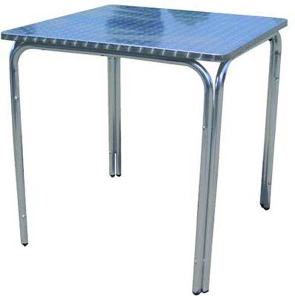 Tavolo Quadrato Da Esterno.Tavolo Bar Quadrato Da Esterno In Alluminio Impilabile Ferramenta